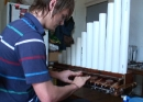 Aaron Wendel playing his Bubble Organ