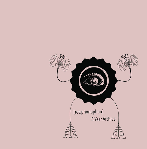 surreal human-plant figure with one eye for a body on pink background