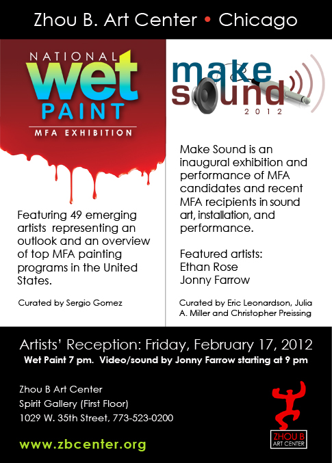Make Sound Artists' Reception On Friday, February 17